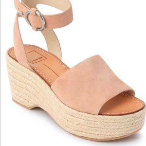 dolce vitaLesly robe wedge rose size 7 1/2
